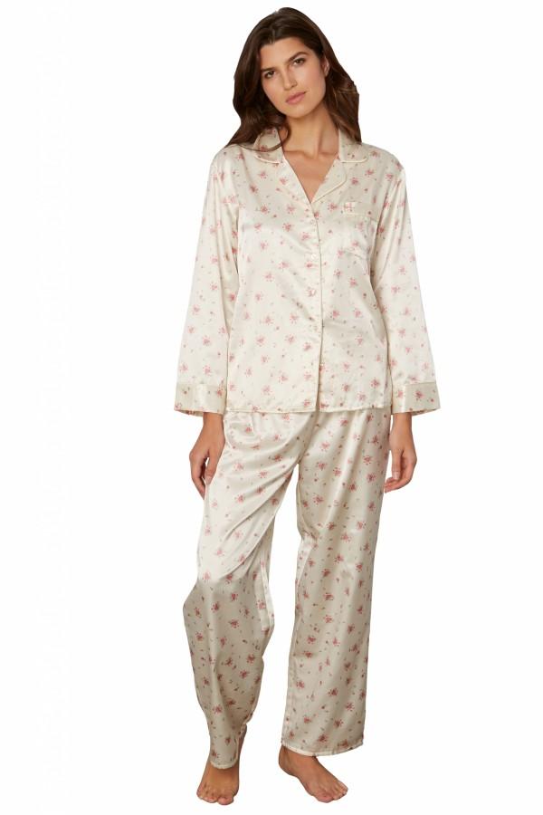 Kayanna Satin-Cotton Pajama