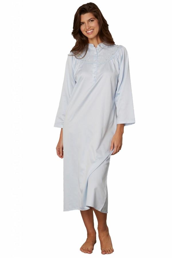Kayanna Satin-Cotton Nightshirt