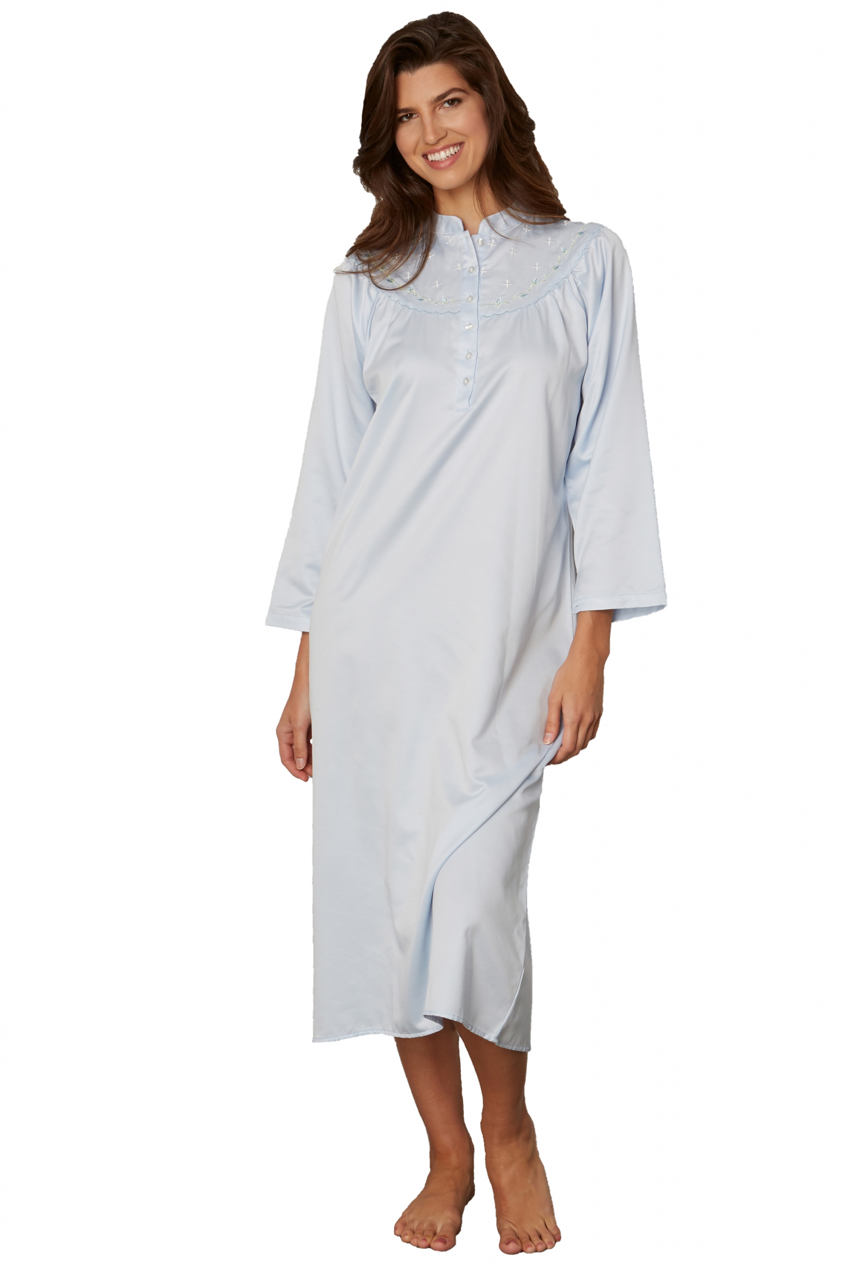 Kayanna Satin-Cotton Nightshirt