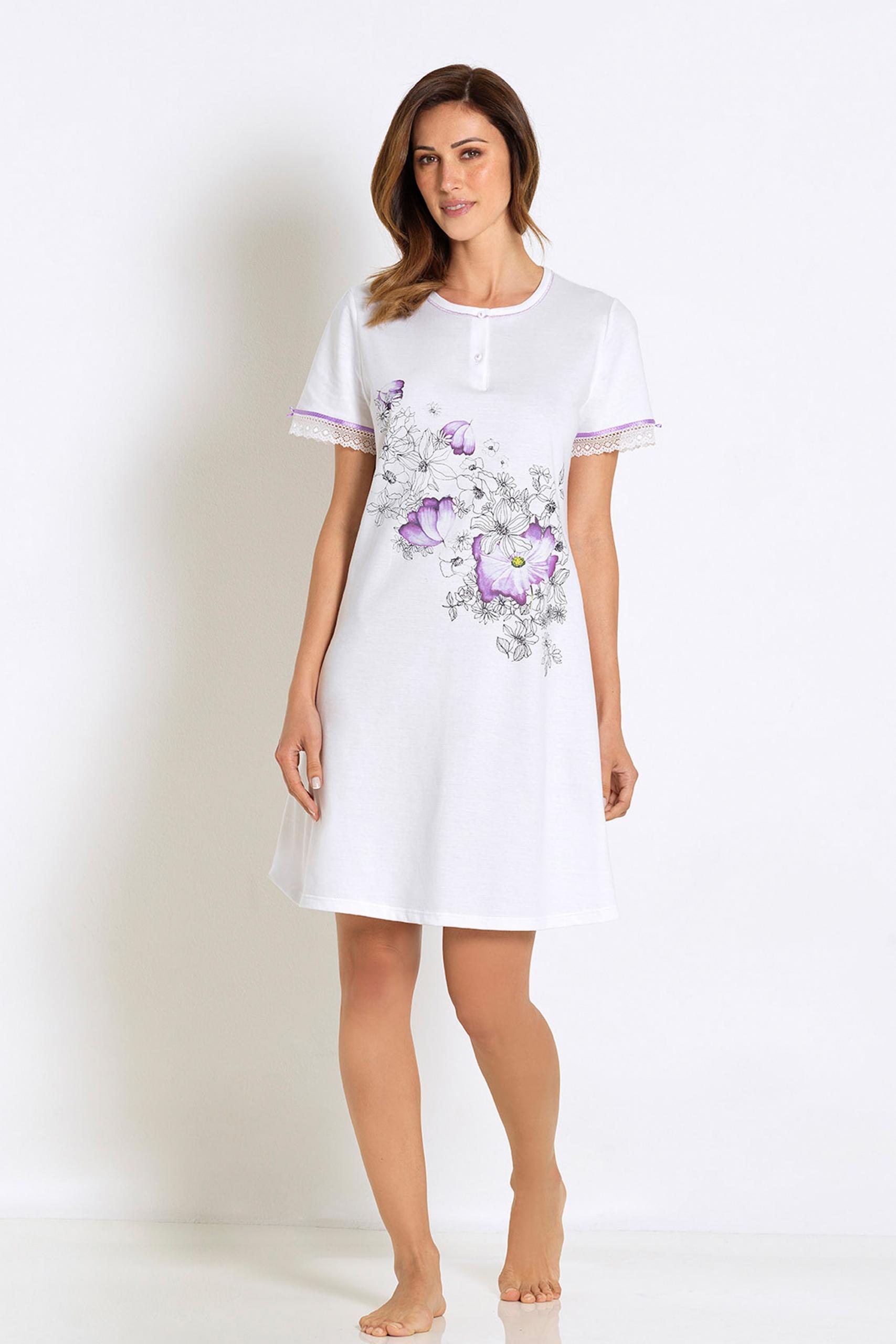 Kayanna Linclalore Cotton Nightshirt