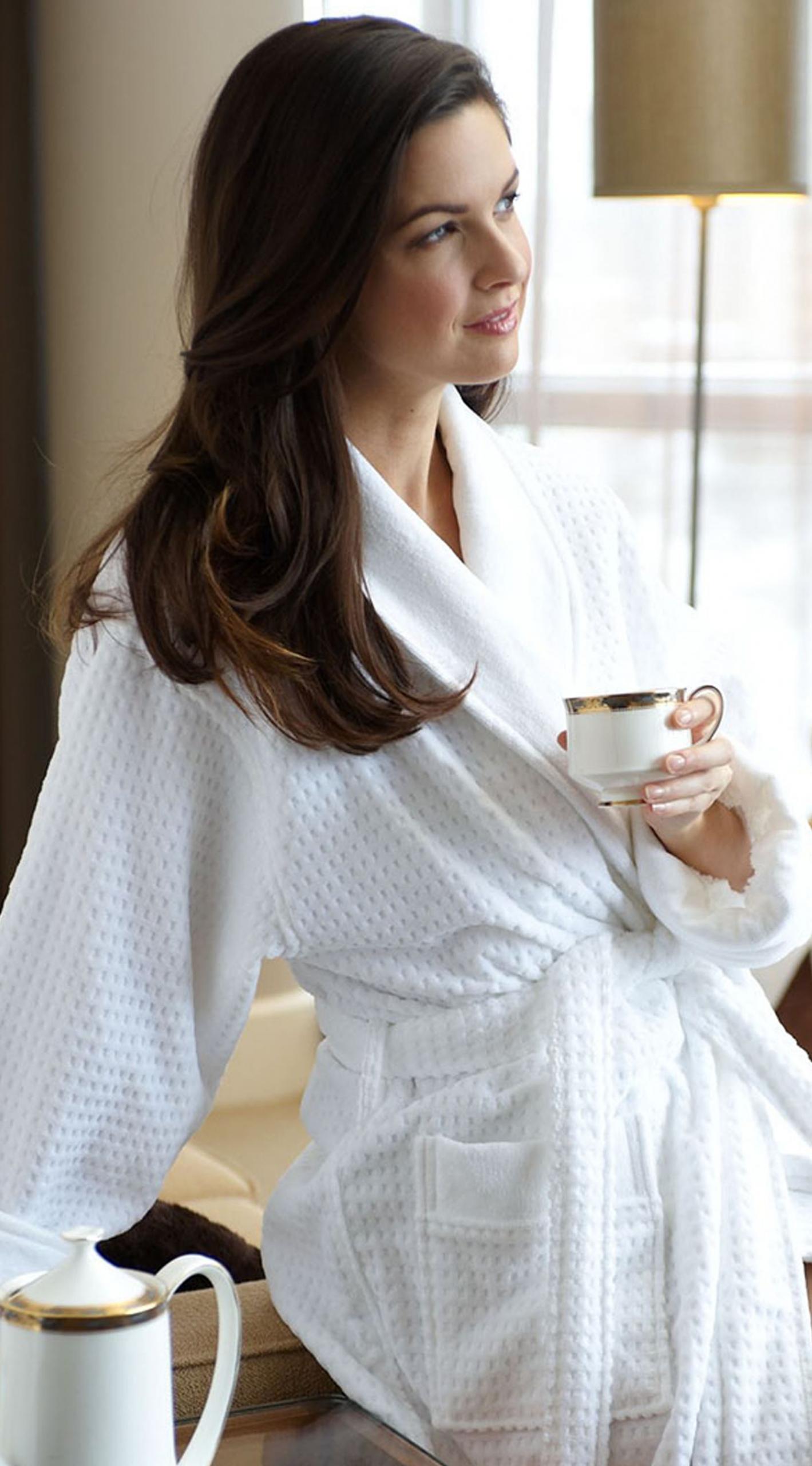 Kayanna Jacquard Terry Velour Shawl Collar Robe